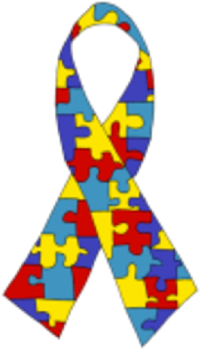 Autism Awareness ribbon.