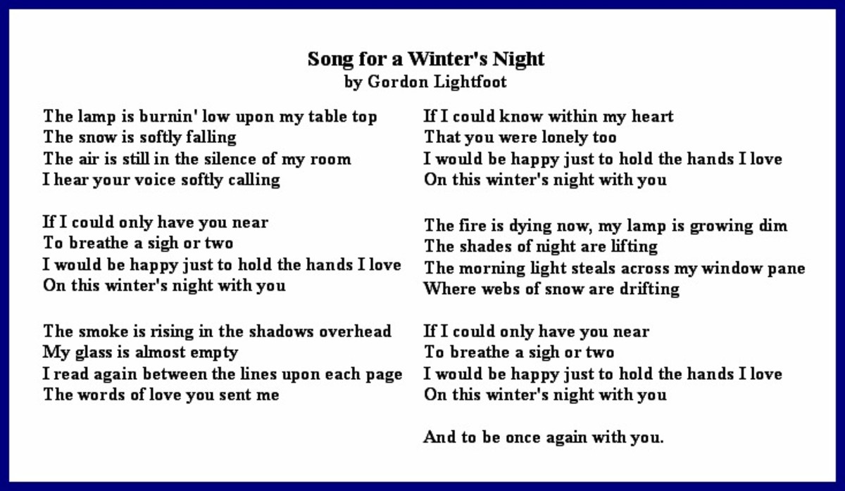 Song for a Winter's Night Lyrics