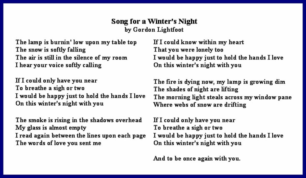 Song for a Winter's Night Lyrics