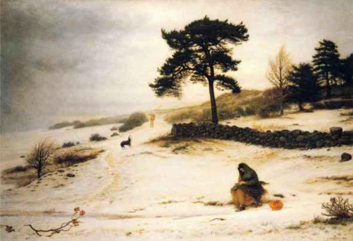 Blow, Blow Thou Winter Wind by Sir John Everett Millais (1892)