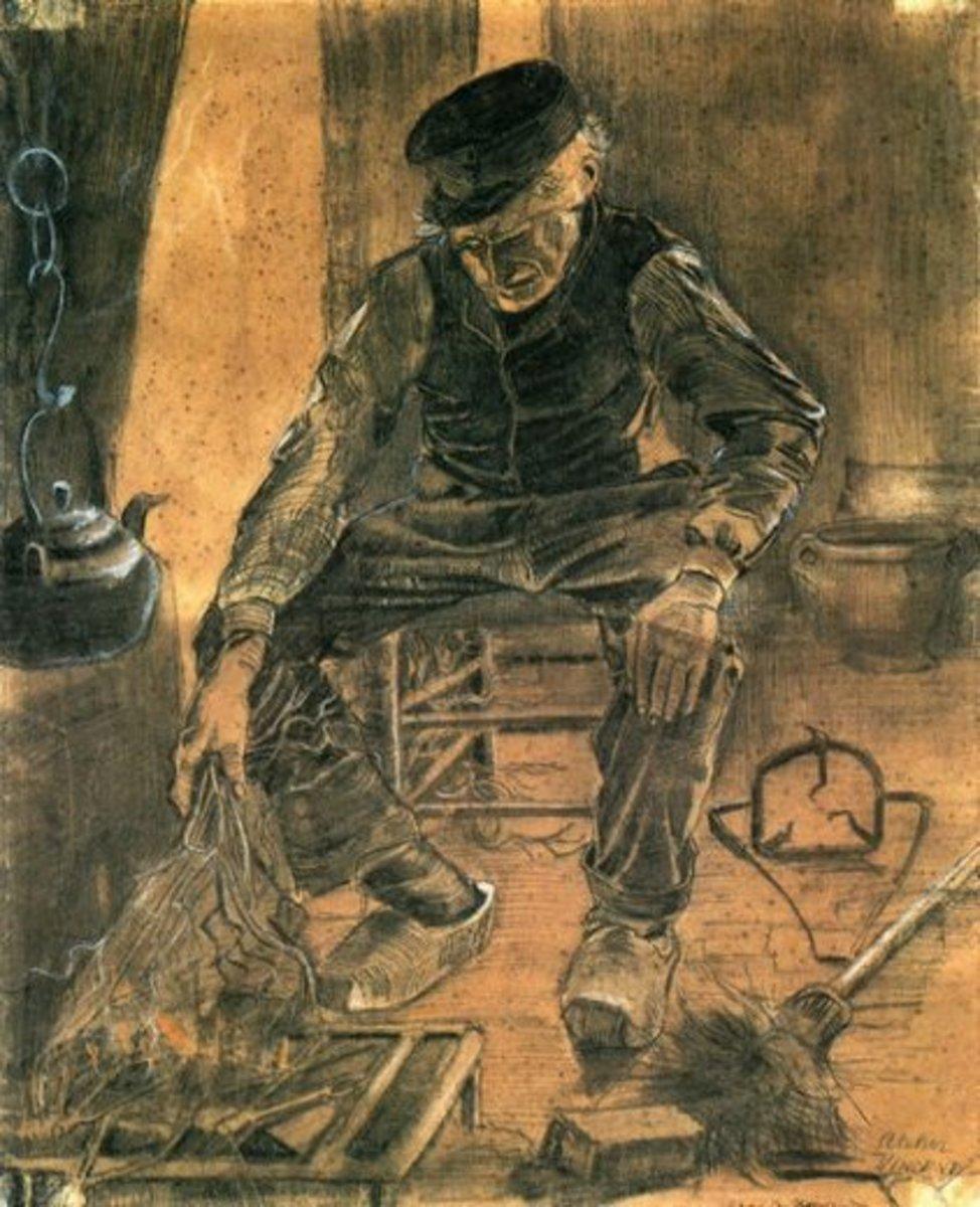 Man at Winter Stove