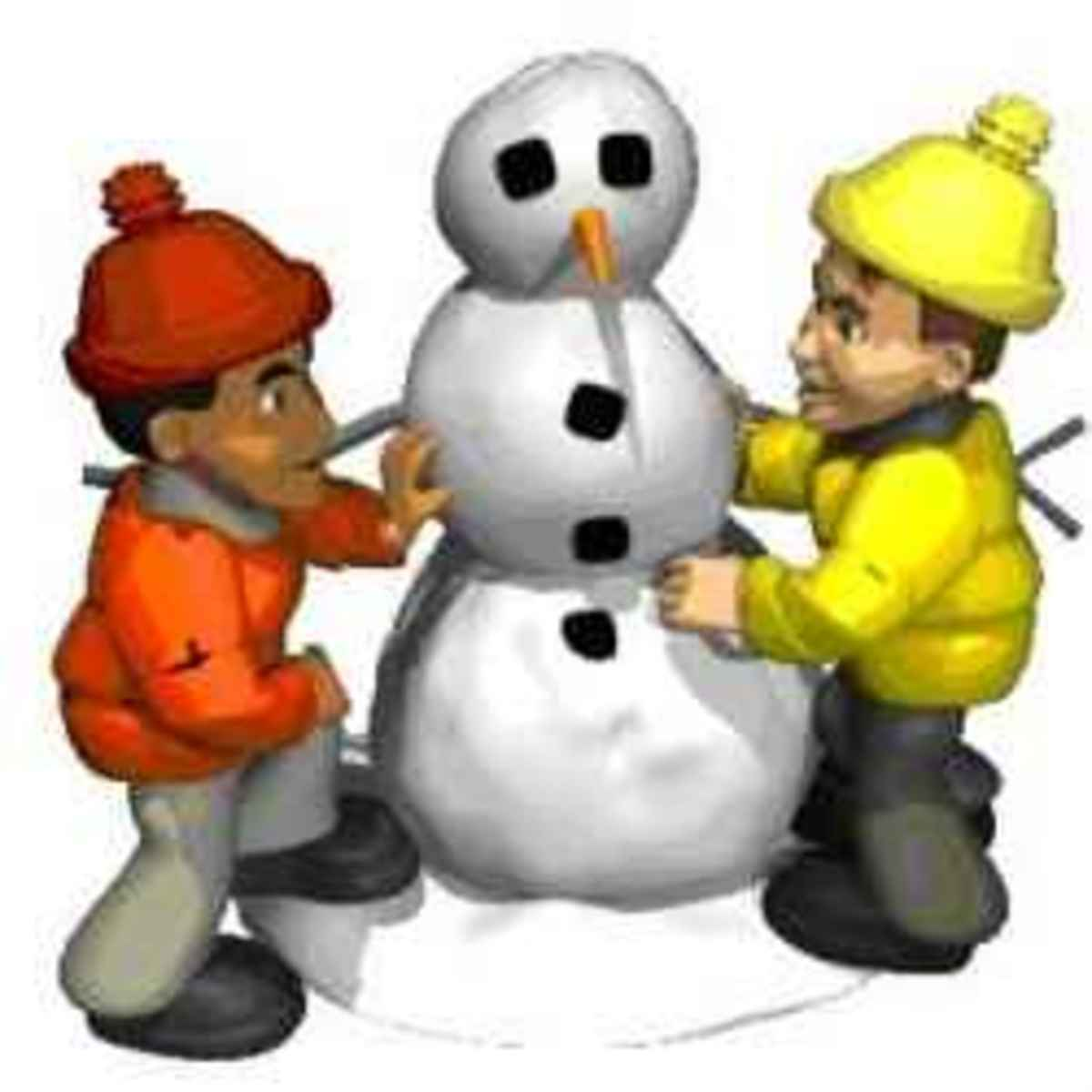 Kids and Snowman