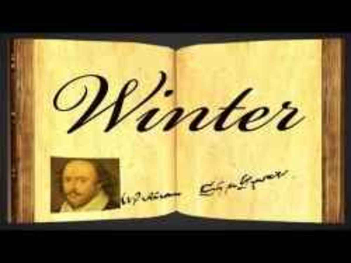 William Shakespeare's Winter Poem