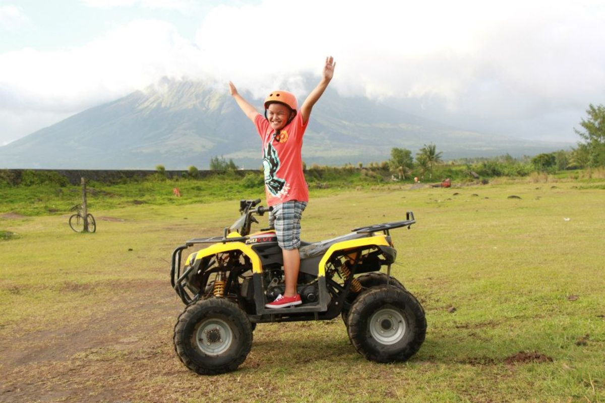 Ramon obviously enjoyed his first ATV adventure