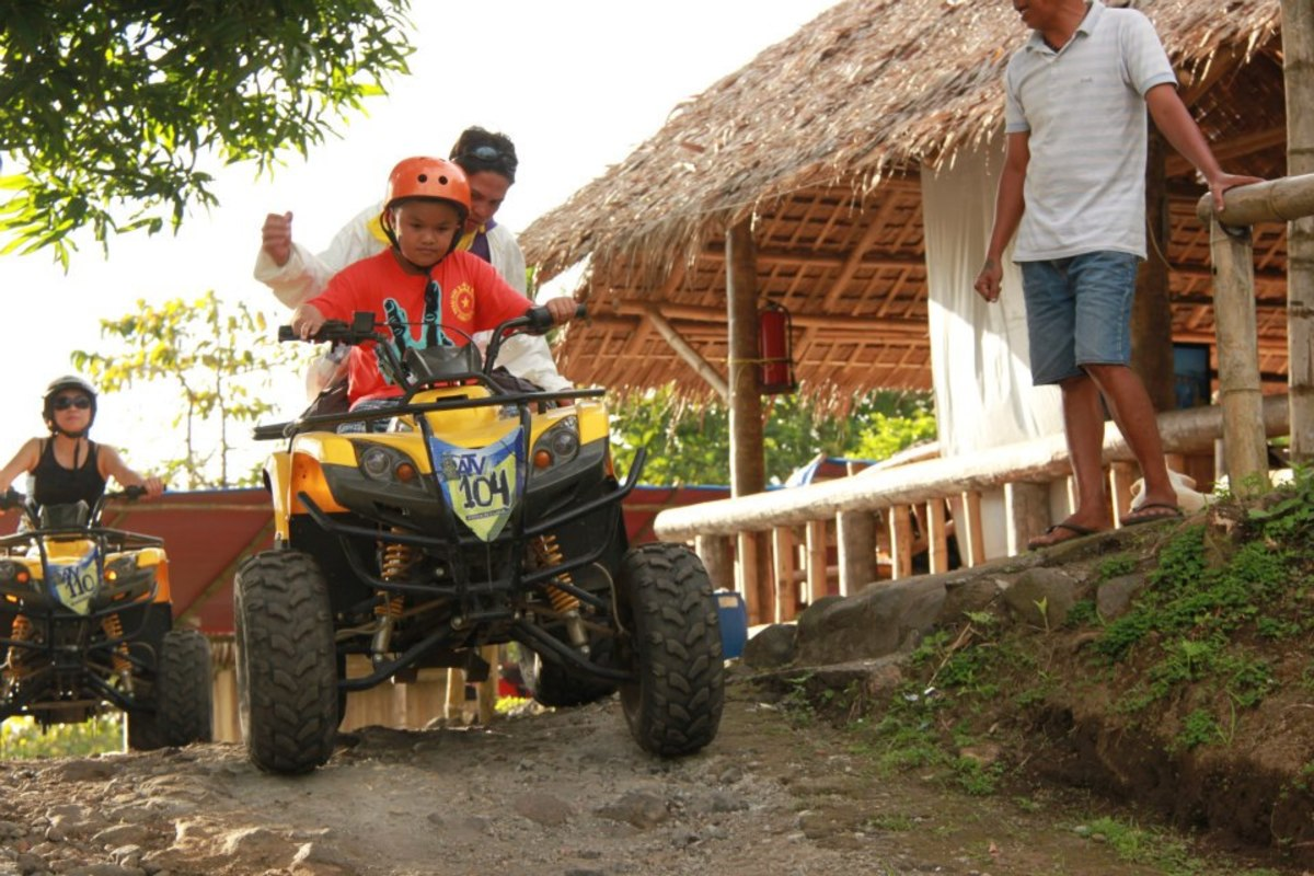 My nephew's first ride on Bicol Adventure ATV