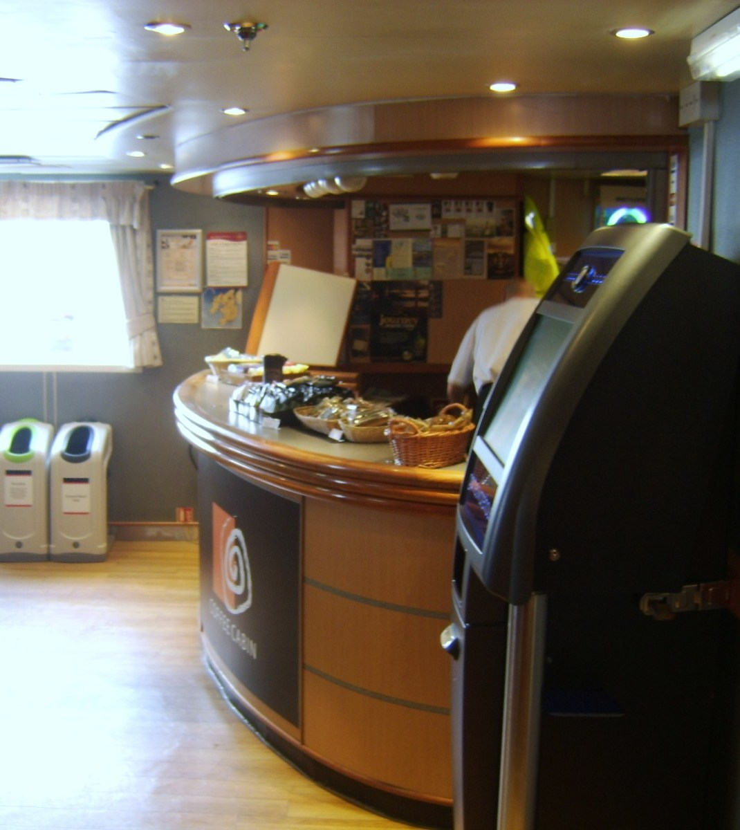 The bar on the Hebridean Isles ferry to Islay