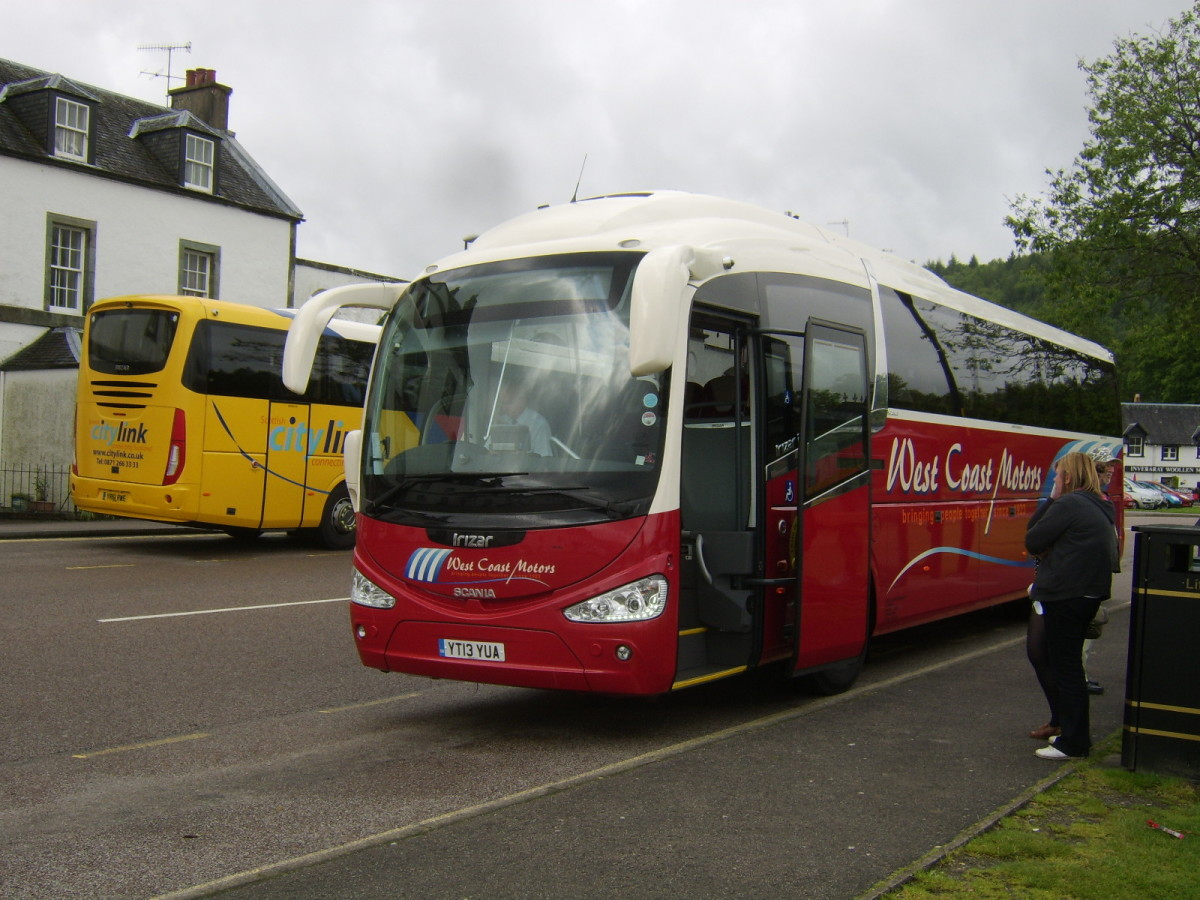 The Glasgow to Campbeltown service bus calls at Kennacraig