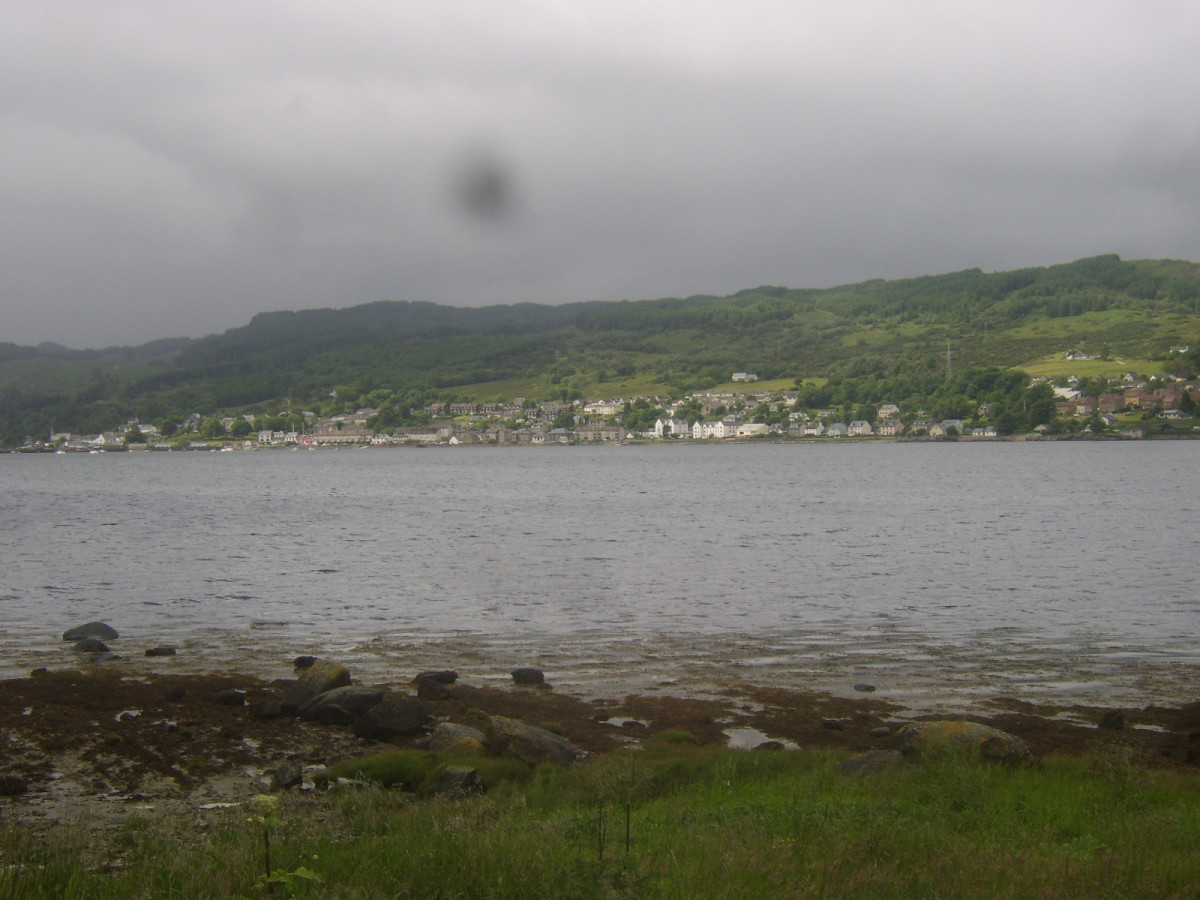 Ardrishaig viewed from across Loch Fyne