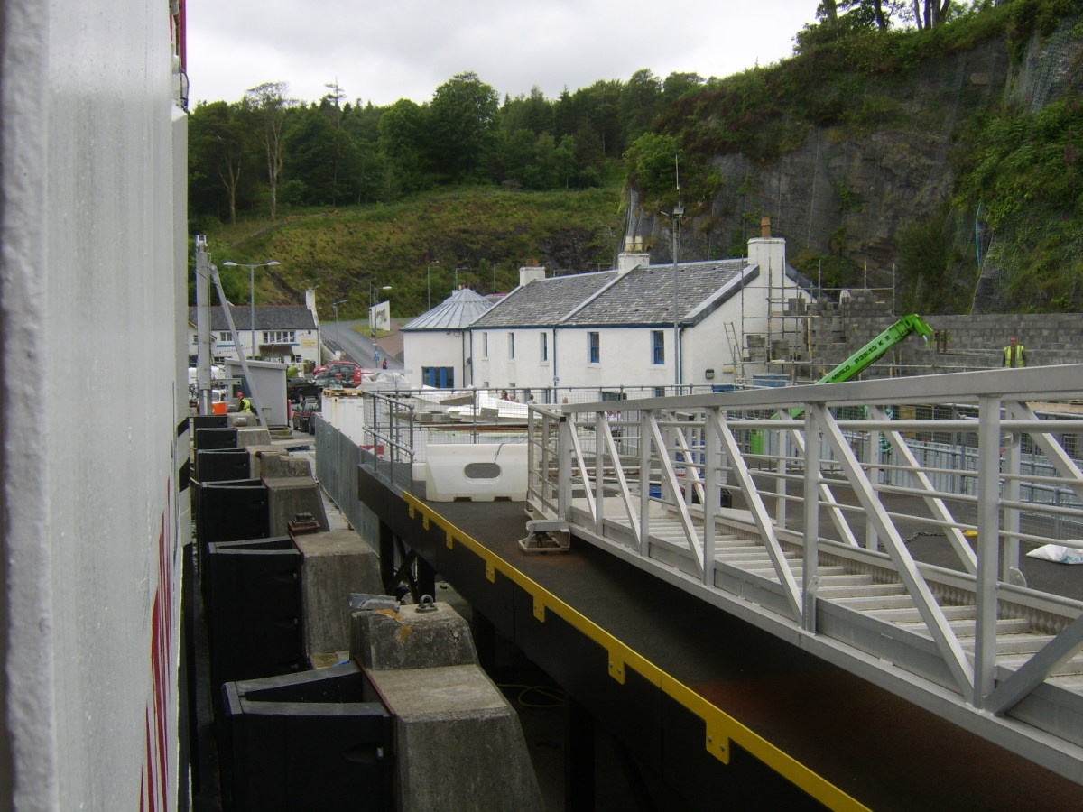 Hebridean Isles ferry docking at Port Askaig, Islay