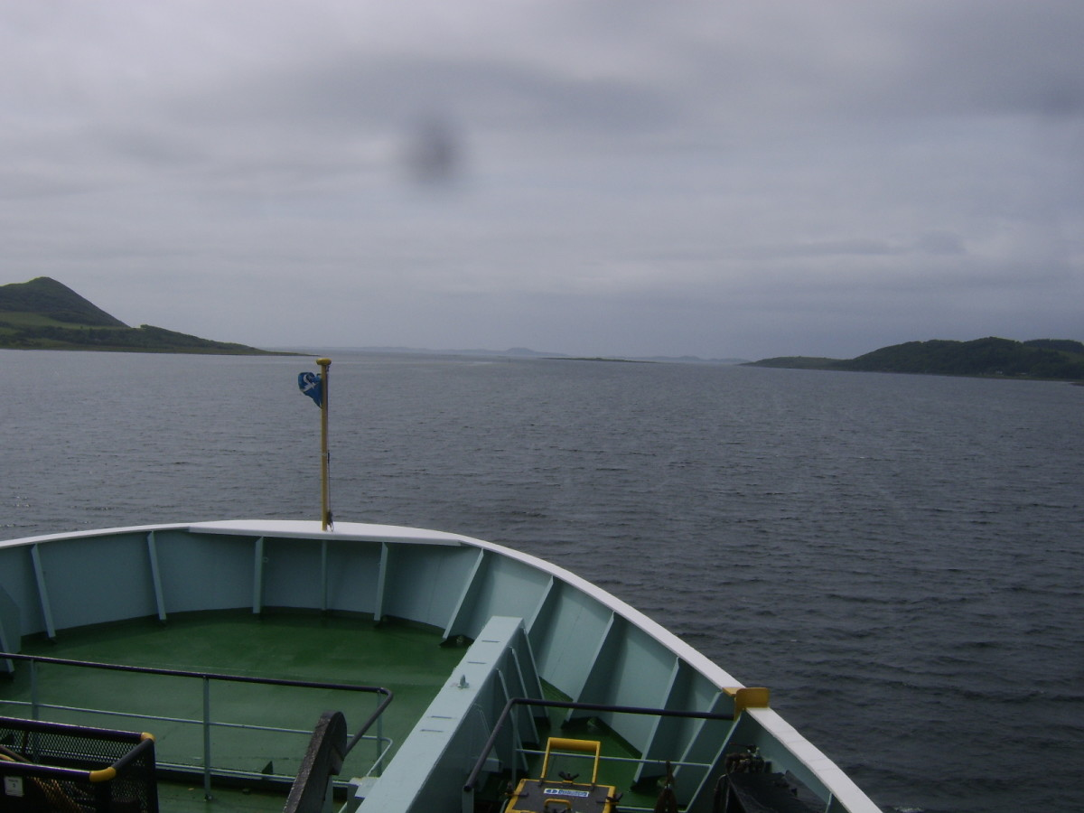 Isle of Jura can just be discerned in the far distance from the Hebridean Isles on the West Loch