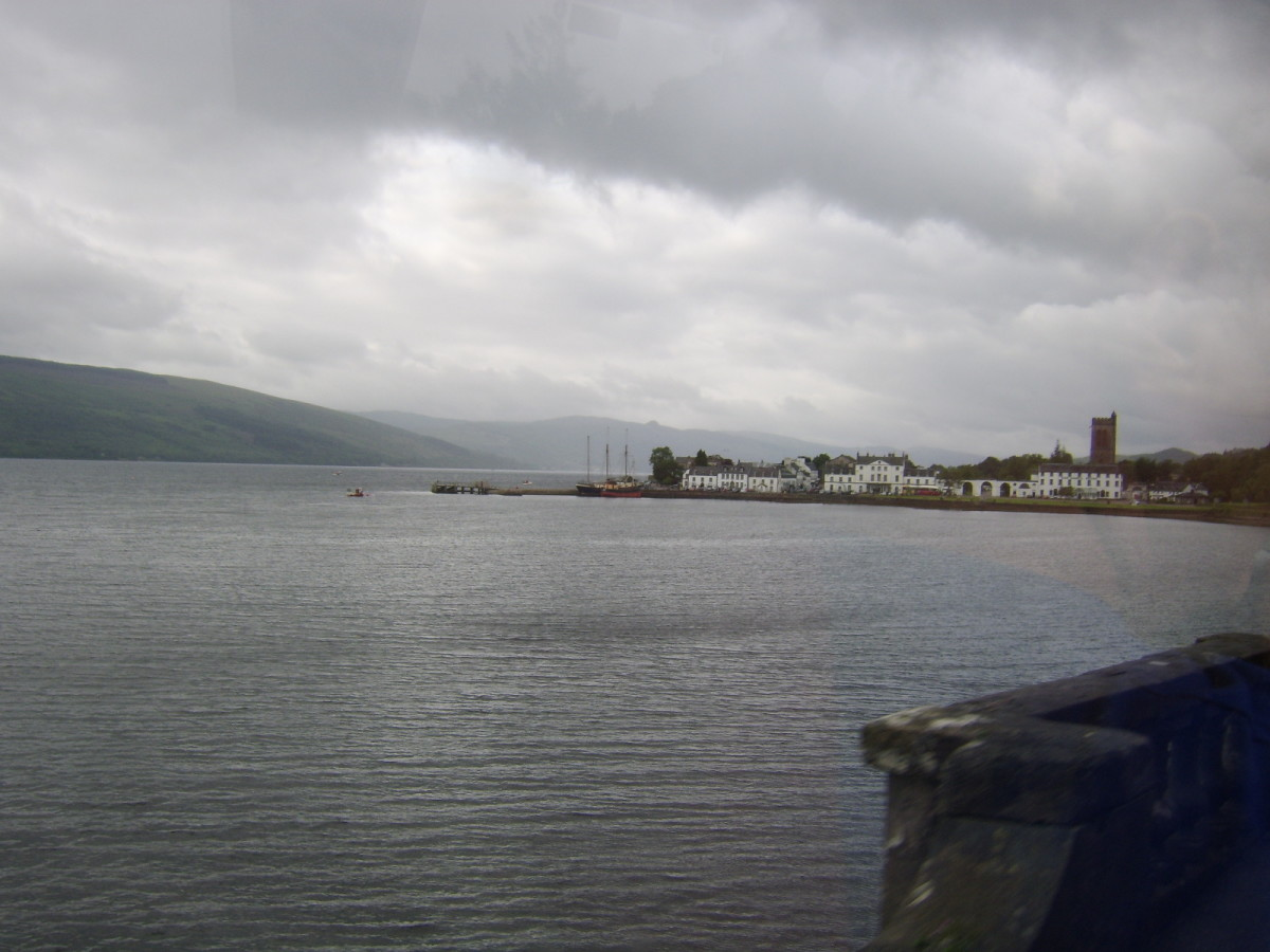 Inveraray seen across Loch Shirra, off Loch Fyne