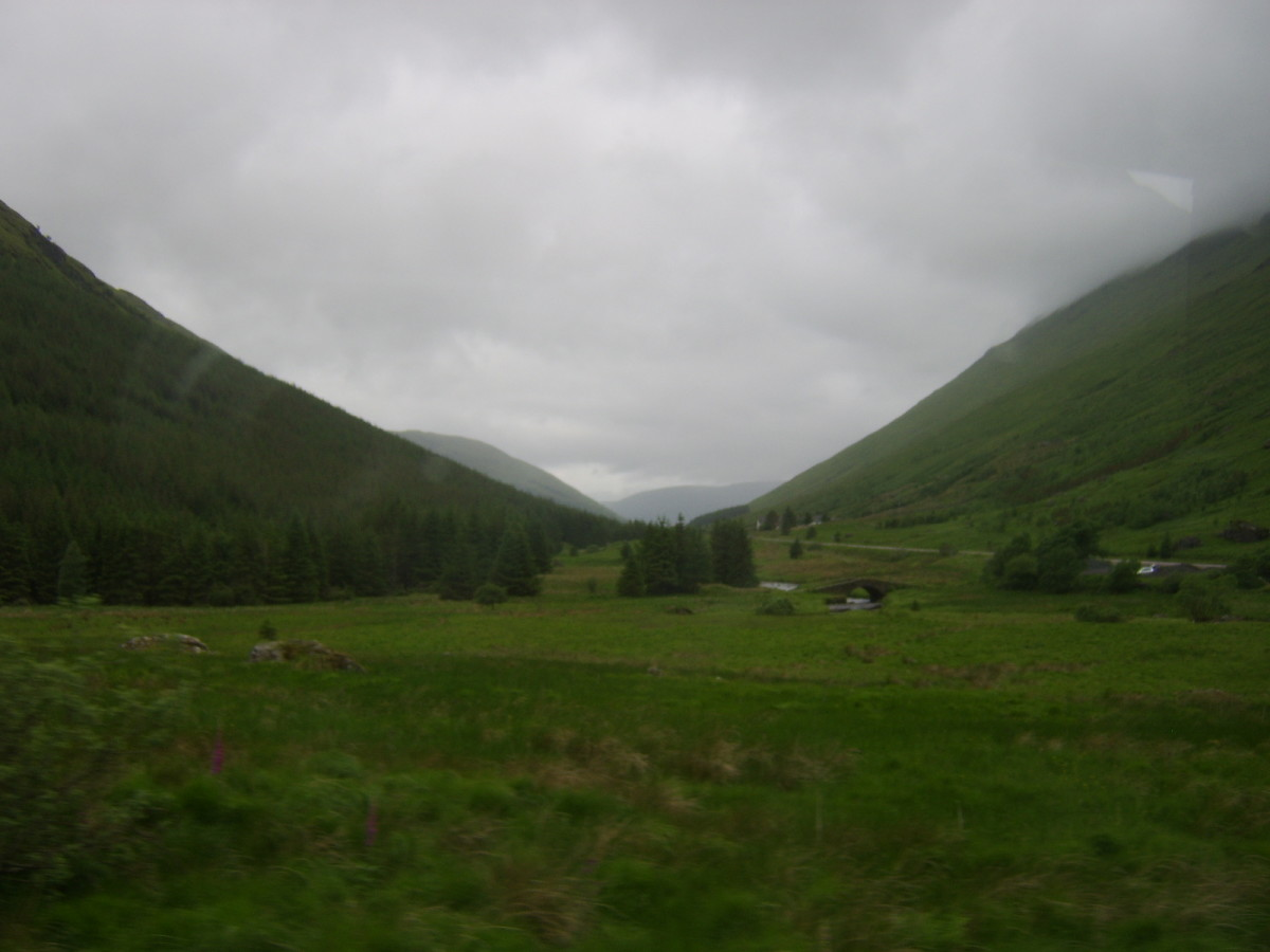 Looking along Glen Kinglas