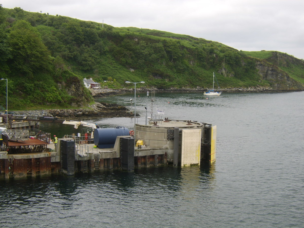 North end of dock at Port Askaig
