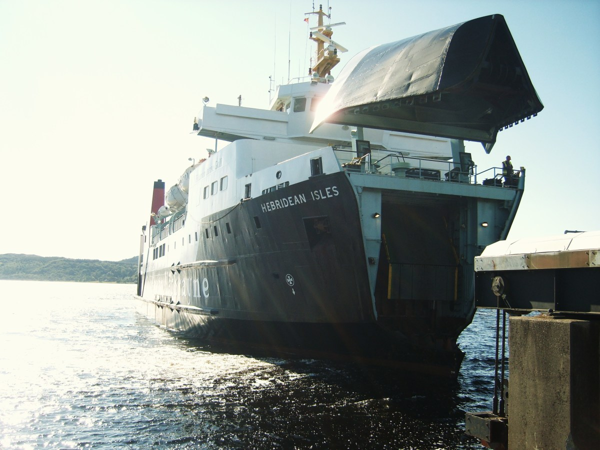The Hebridean Isles - seen preparing to dock at Kennacraig - is one of the two passenger ferries that services the route from Kennacraig to Islay