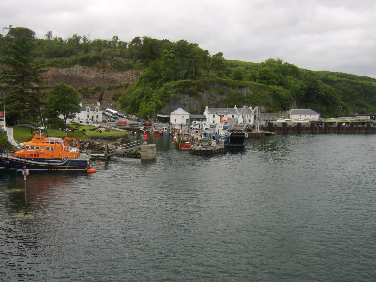 Ferry docking area at Port Askaig, Islay
