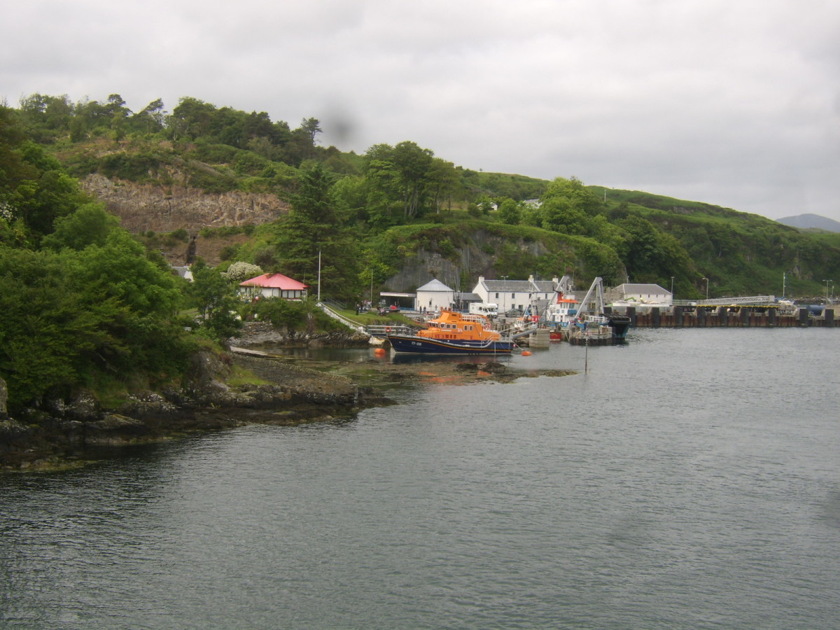 Port Askaig, Islay, from the deck of the approaching ferry