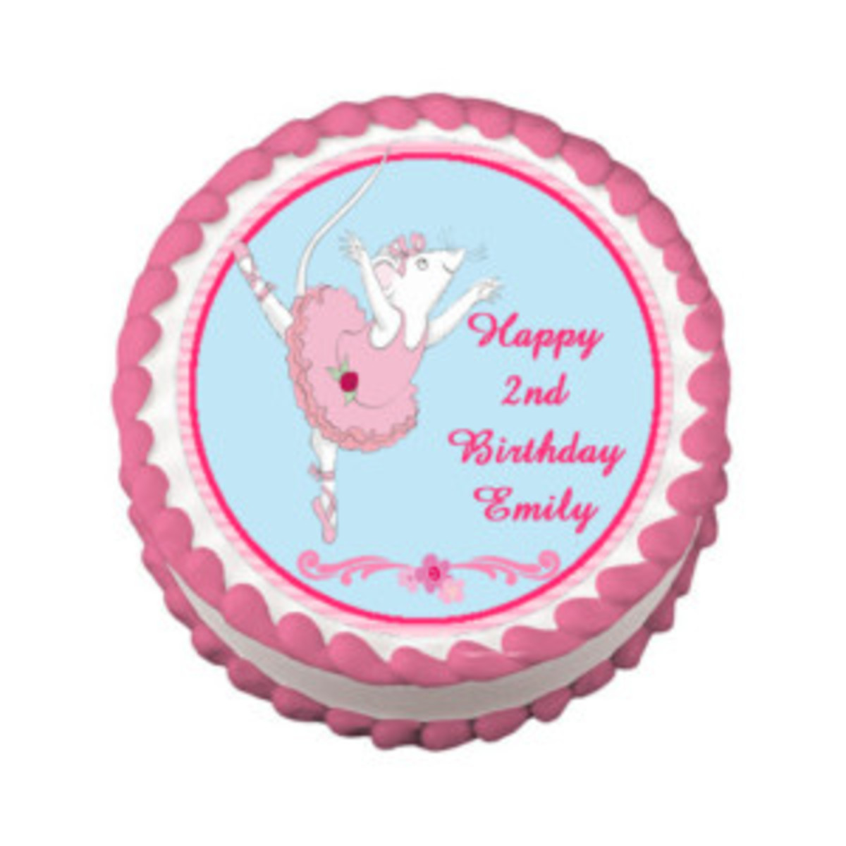 Angelina Ballerina edible cake topper