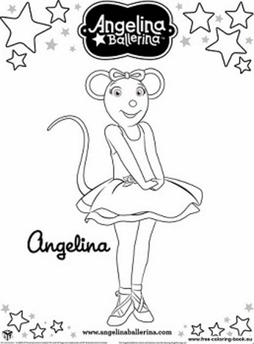 Angelina ballerina coloring pages