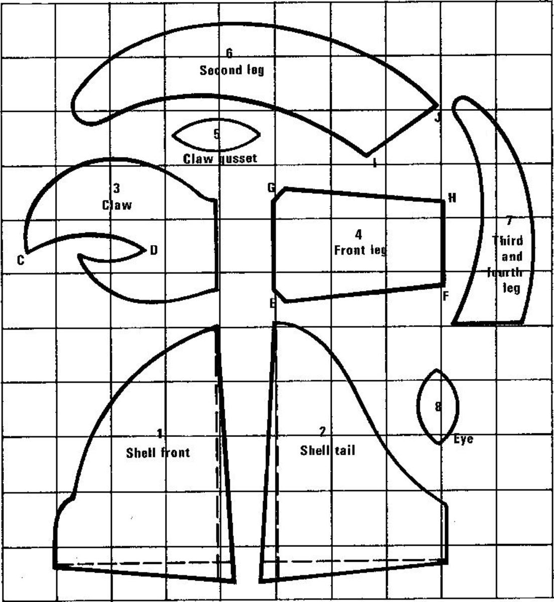 Figure 1 - Pattern Pieces