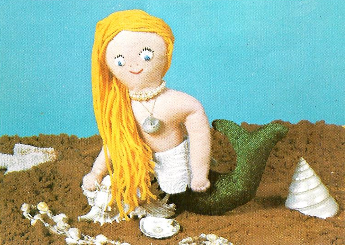 Soft Stuffed Mermaid