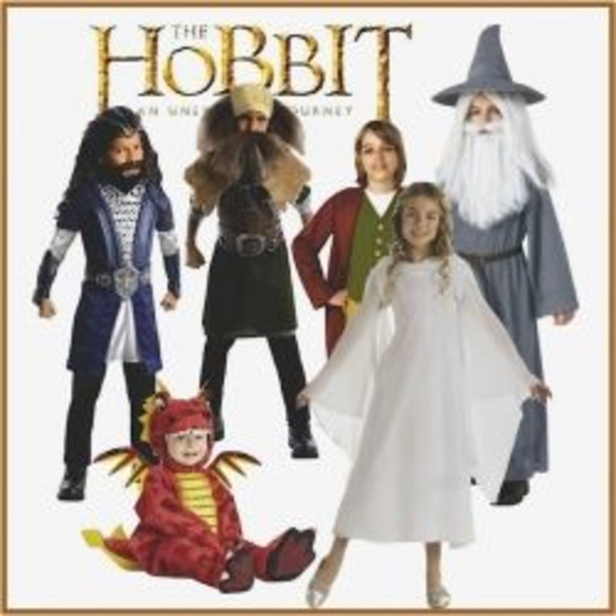 Some of the Hobbit Character Costumes  you'll find on this page.  (Montage created by us. Do not copy)