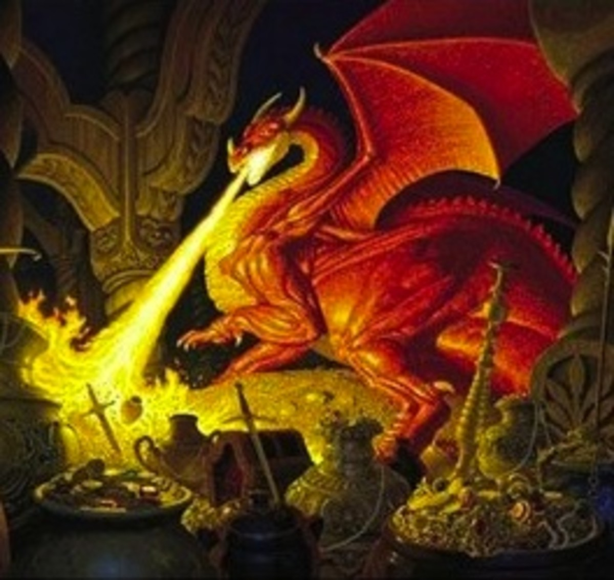 Detail of Smaug Dragon 1000 Piece Jigsaw Puzzle
