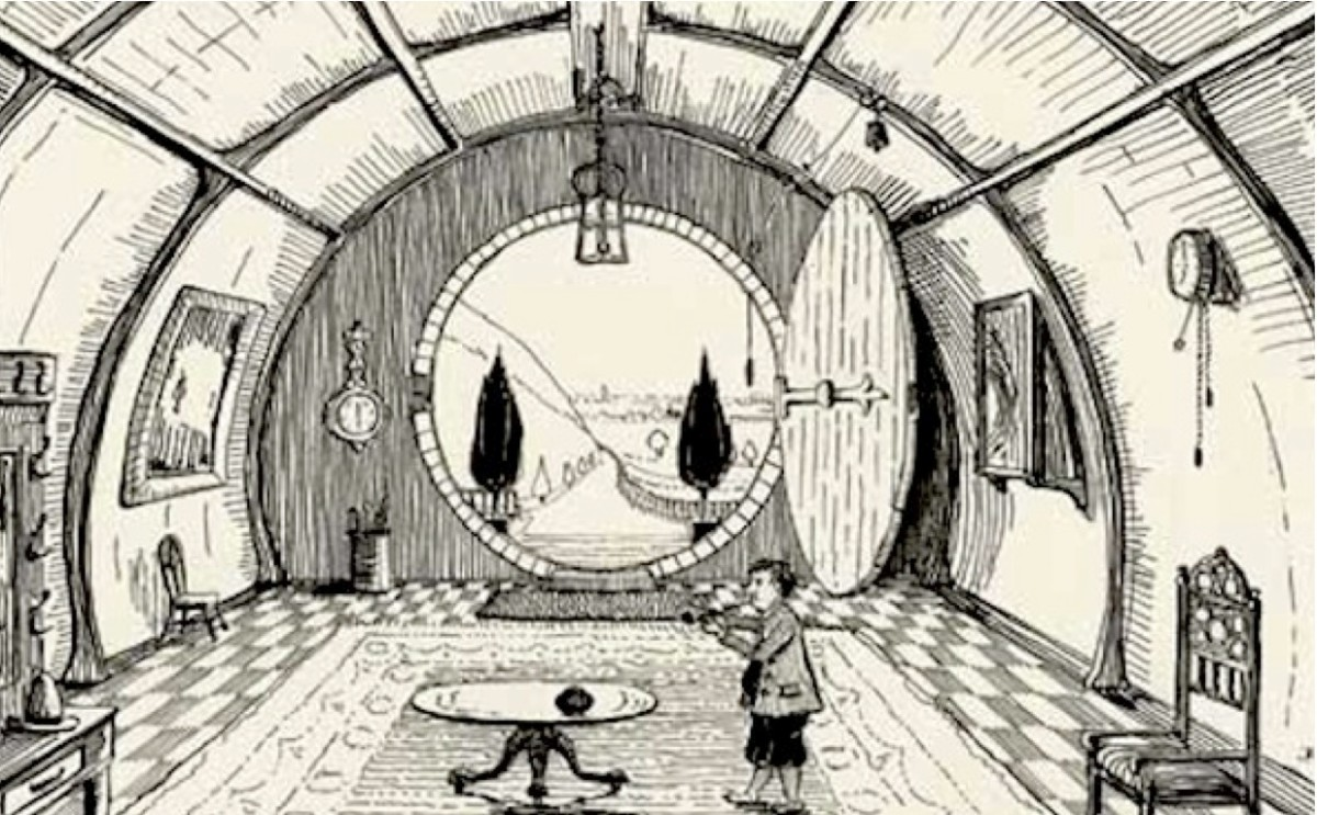 One of Tolkien's Original Sketches for the Hobbit