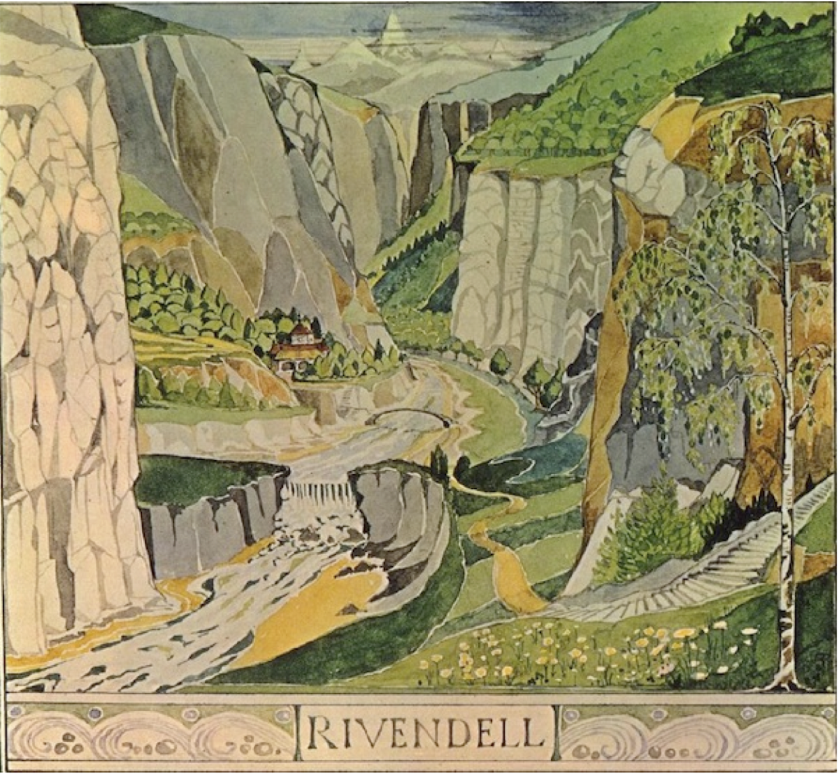 One of Tolkien's Original Watercolor Illustrations for the Hobbit