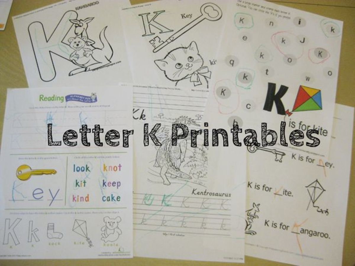 Letter K Printables Alphabet Activities
