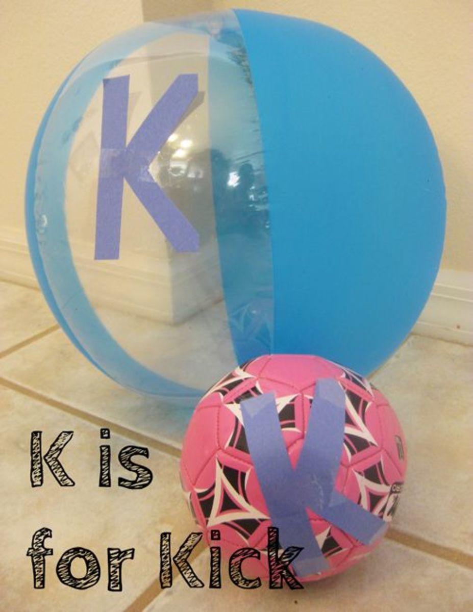K is for Kick Alphabet Activities for Kids
