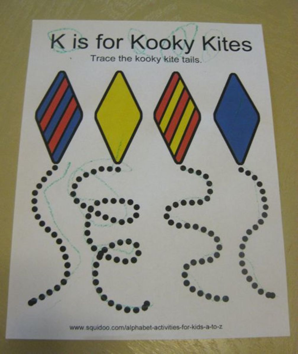 K is for Kooky Kites Alphabet Activities for Kids