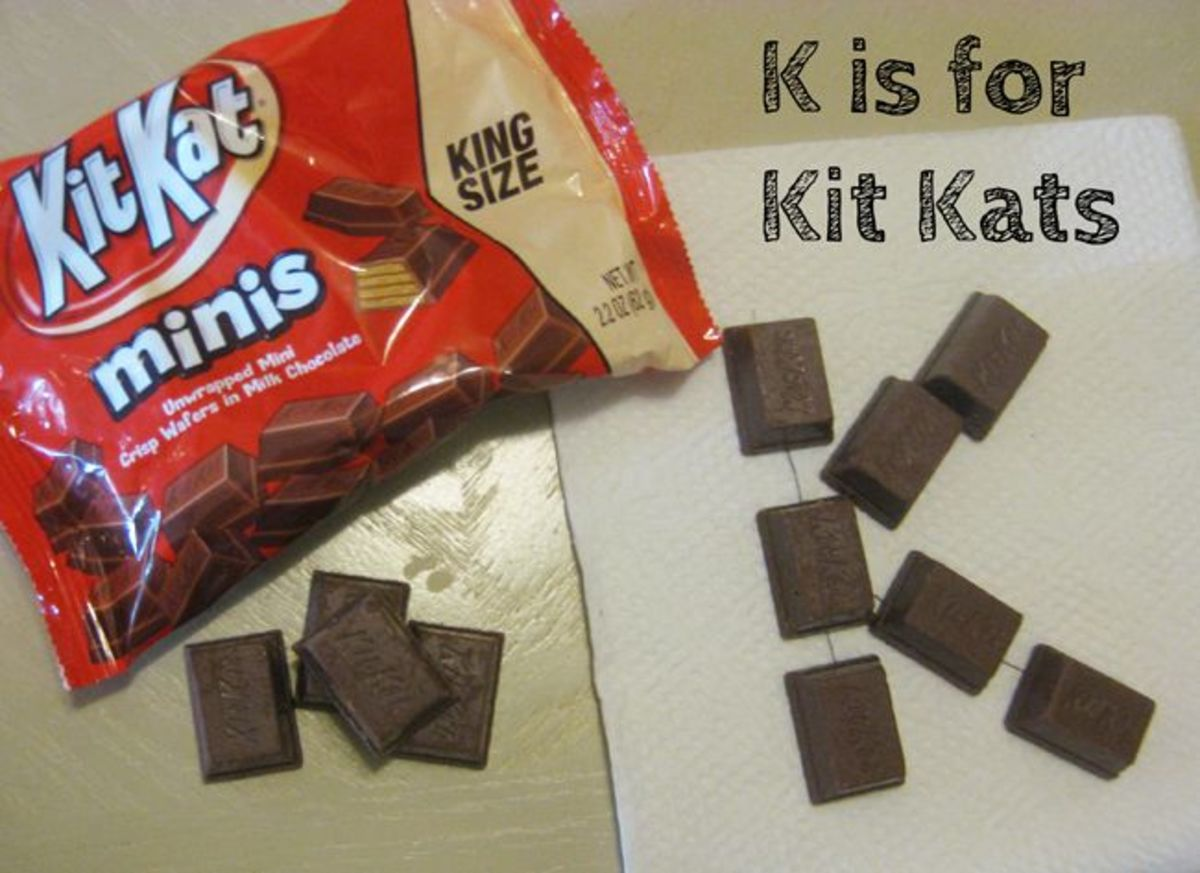 K is for Kit Kats Alphabet Activities