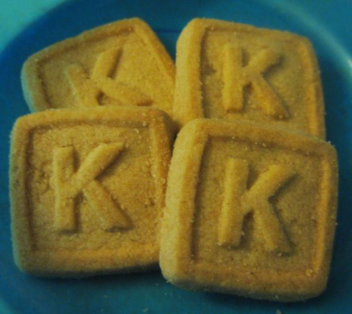 Letter K Cookies