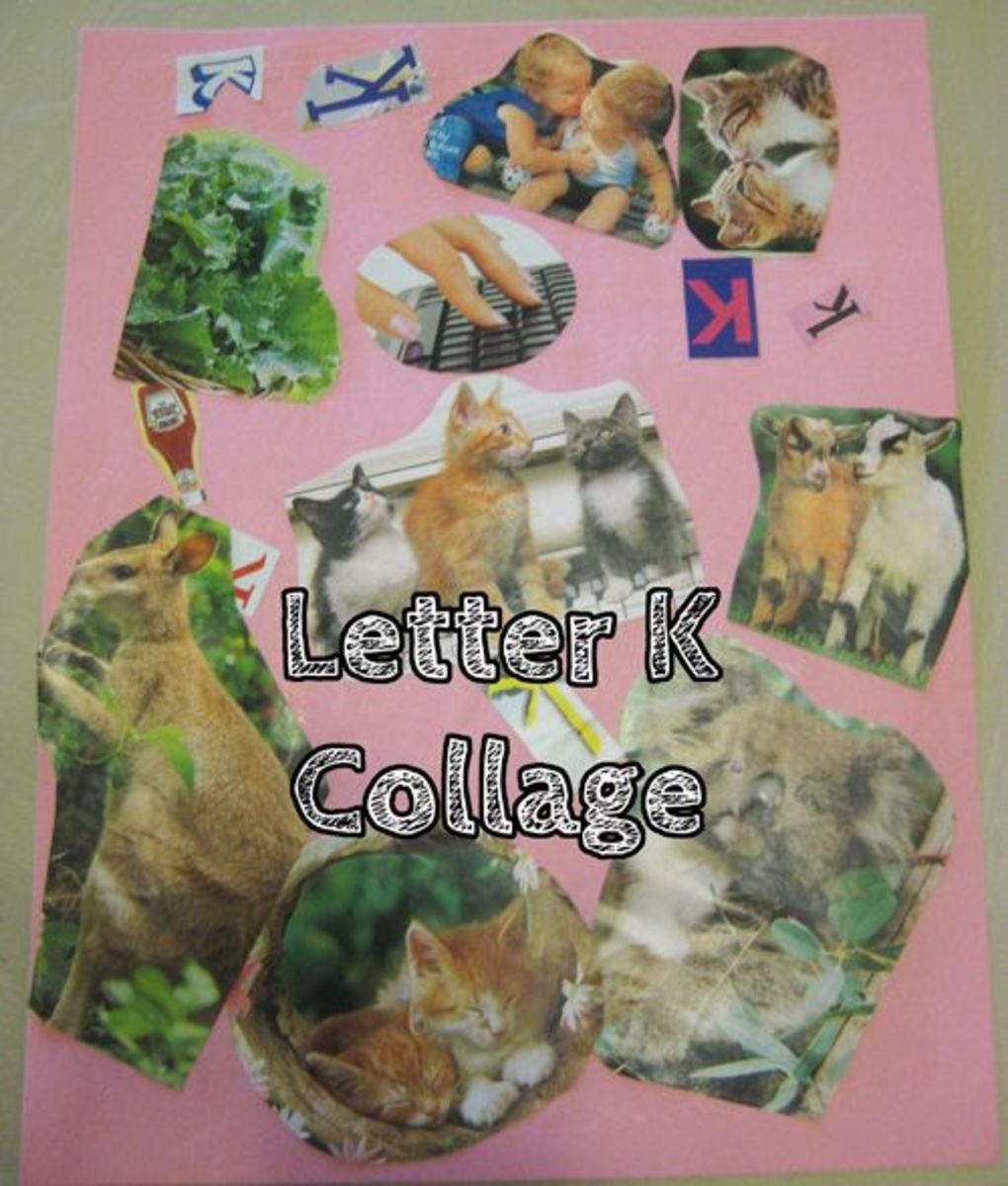 Letter K Collage Alphabet Activities