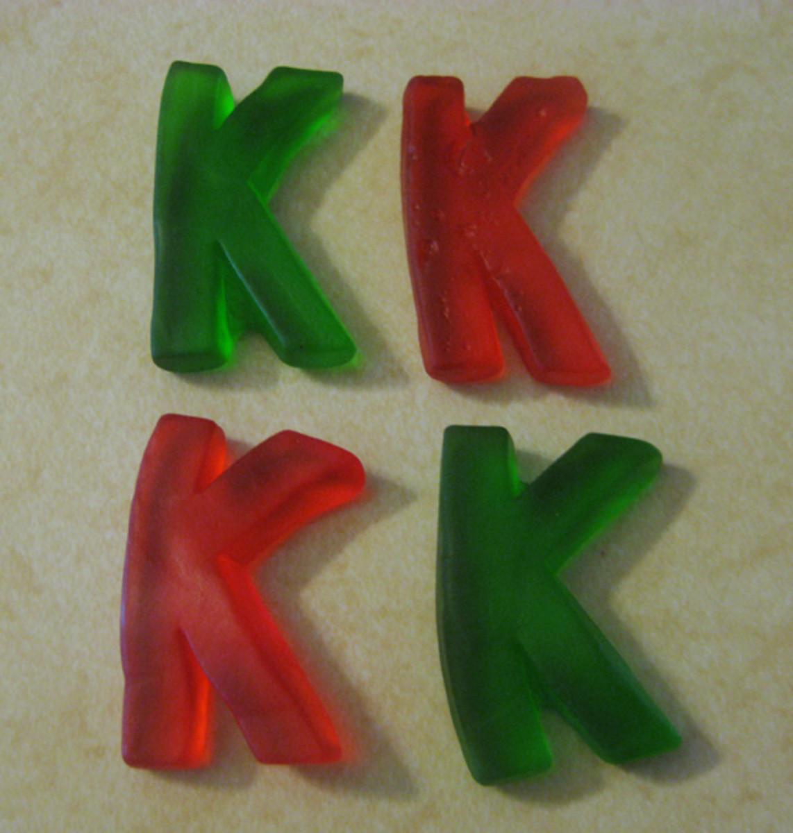 Letter K Gummies