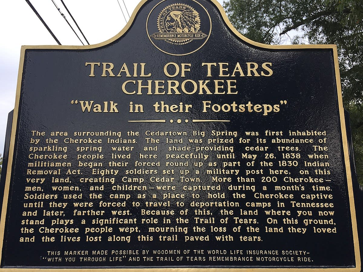 Trail of tears honoring those who were forcibly removed from their land