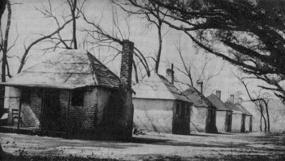 One-room Slave Quarters on a Southern Plantation
