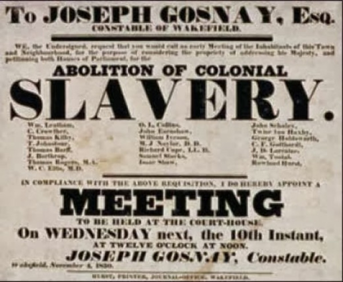 A poster that advertises an open meeting on the subject of abolition of slavery
