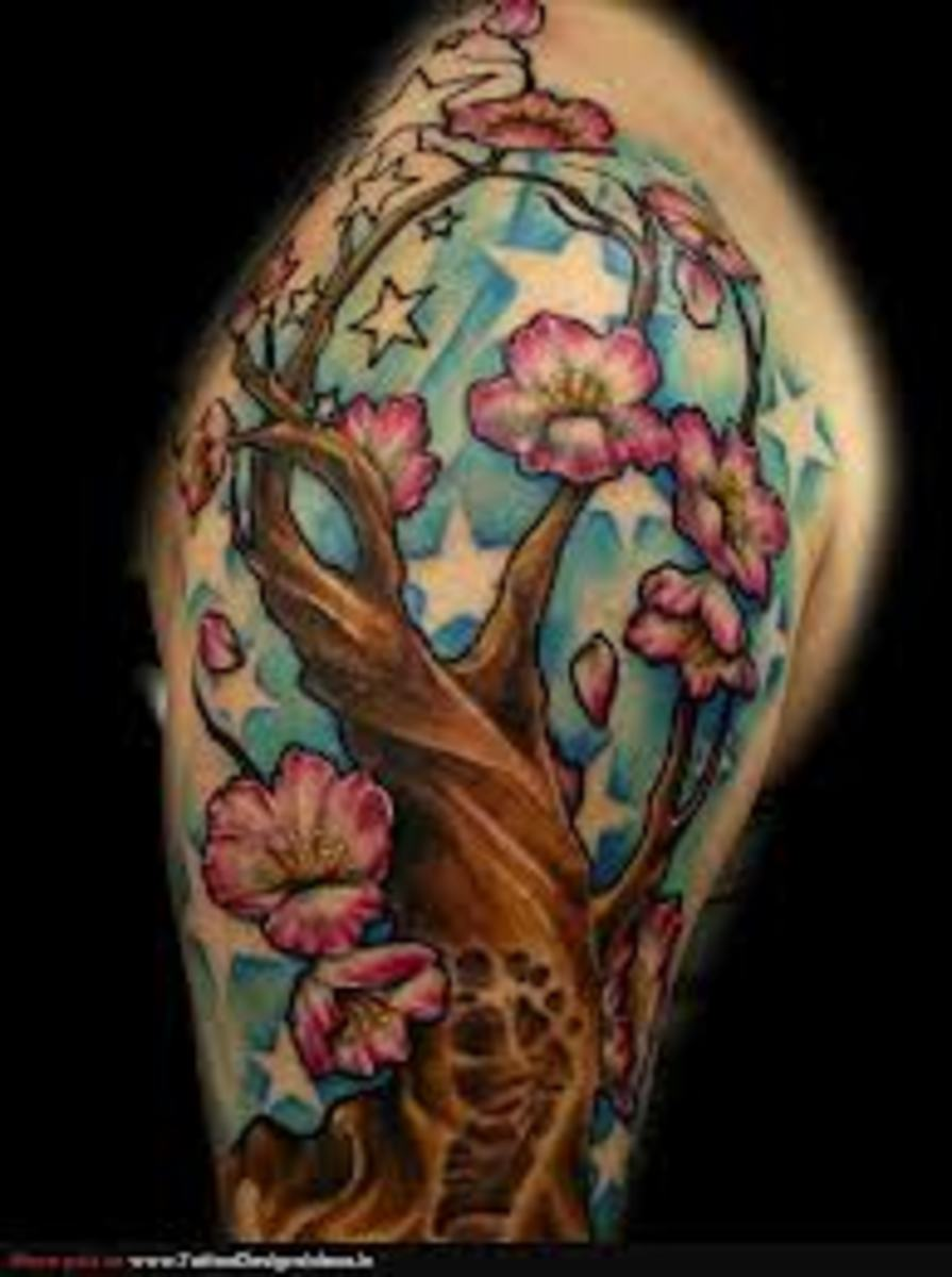 Cherry Blossom Tree Tattoo Designs And Meanings-Cherry Blossom Tree Tattoo Ideas And Pictures