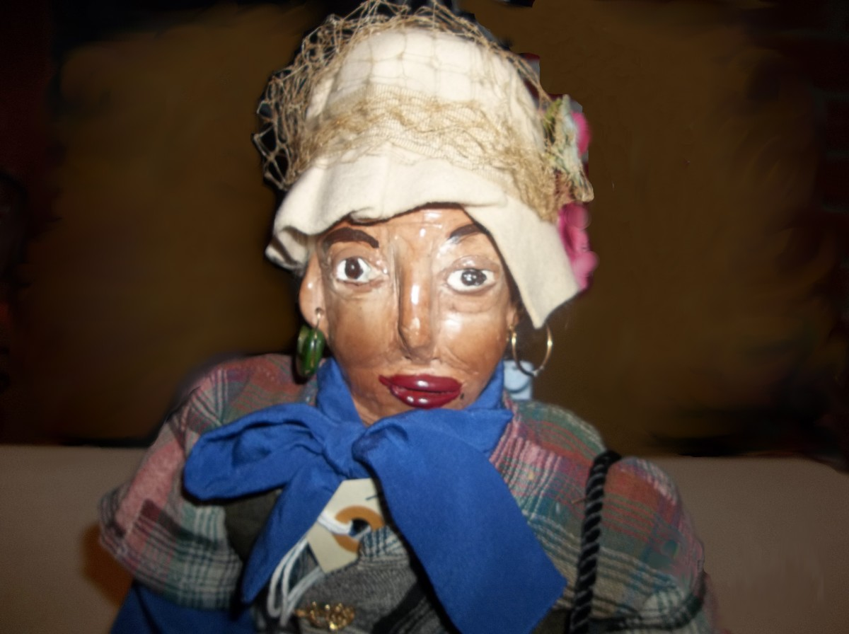 """Sybil's dolls all have so much character, they all have wonderful, memorable names. This doll's name is """"Miss Jane Hartwell."""""""