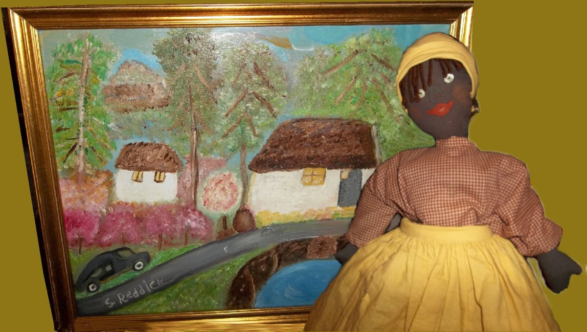 Doll-making and painting comes from the heart for self-taught artist Sybil Butler Reddick.