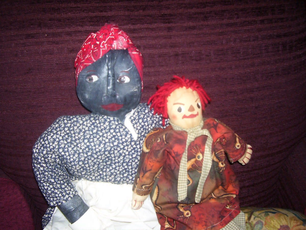 Many dolls Sybil made, such as these, were never for sale. Holding special significance in the heart of their creator, they became part of the artist's personal collection.