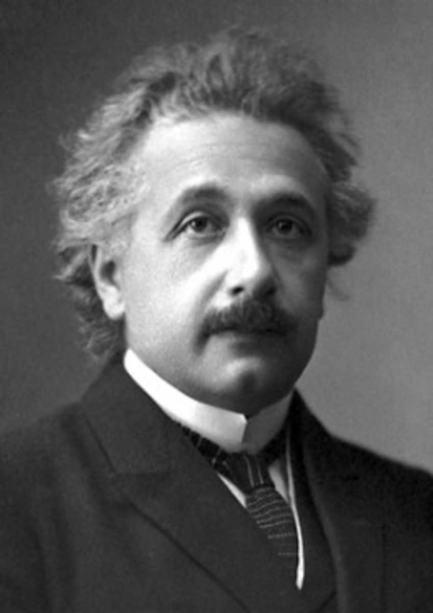 Portrait of Albert Einstein after Winning Nobel Peace Prize in 1921 ALBERT EINSTEIN WAS A DEFINTE INTUITIVE