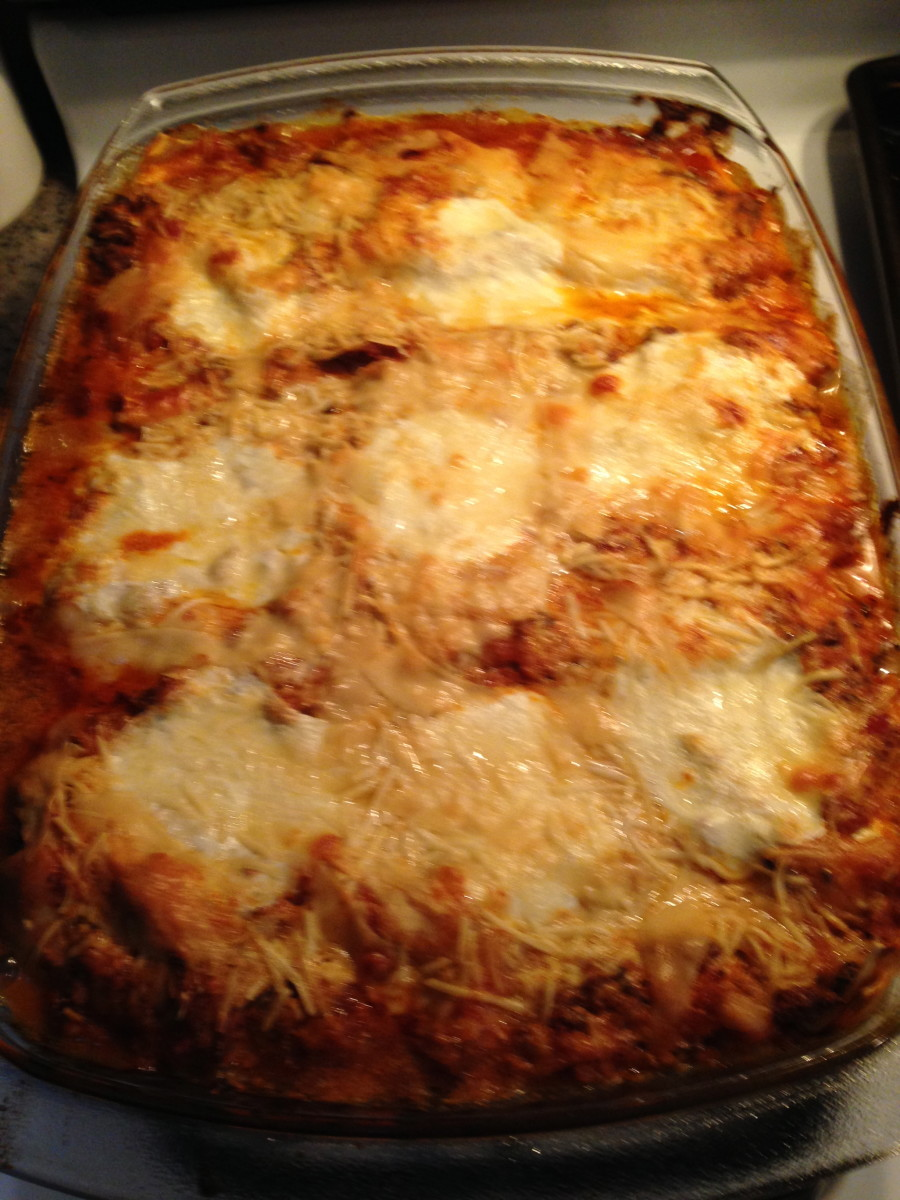 Finished lasagna!