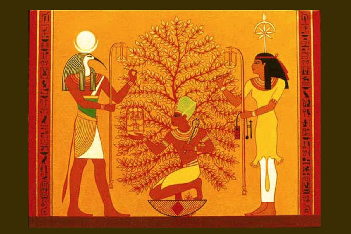 Egyptian tree worship.
