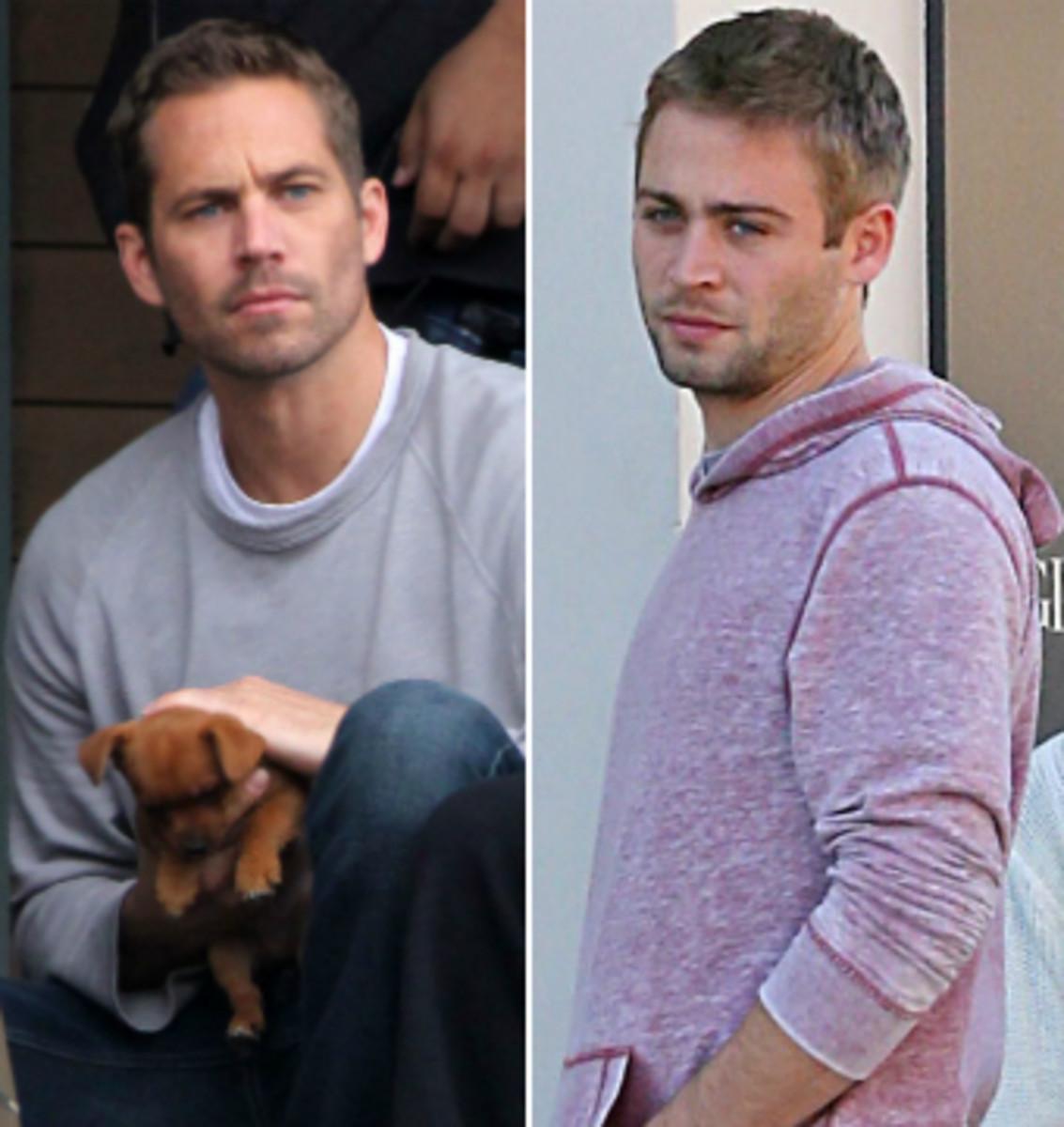 Cody Walker, Right. Paul Walker, Left.