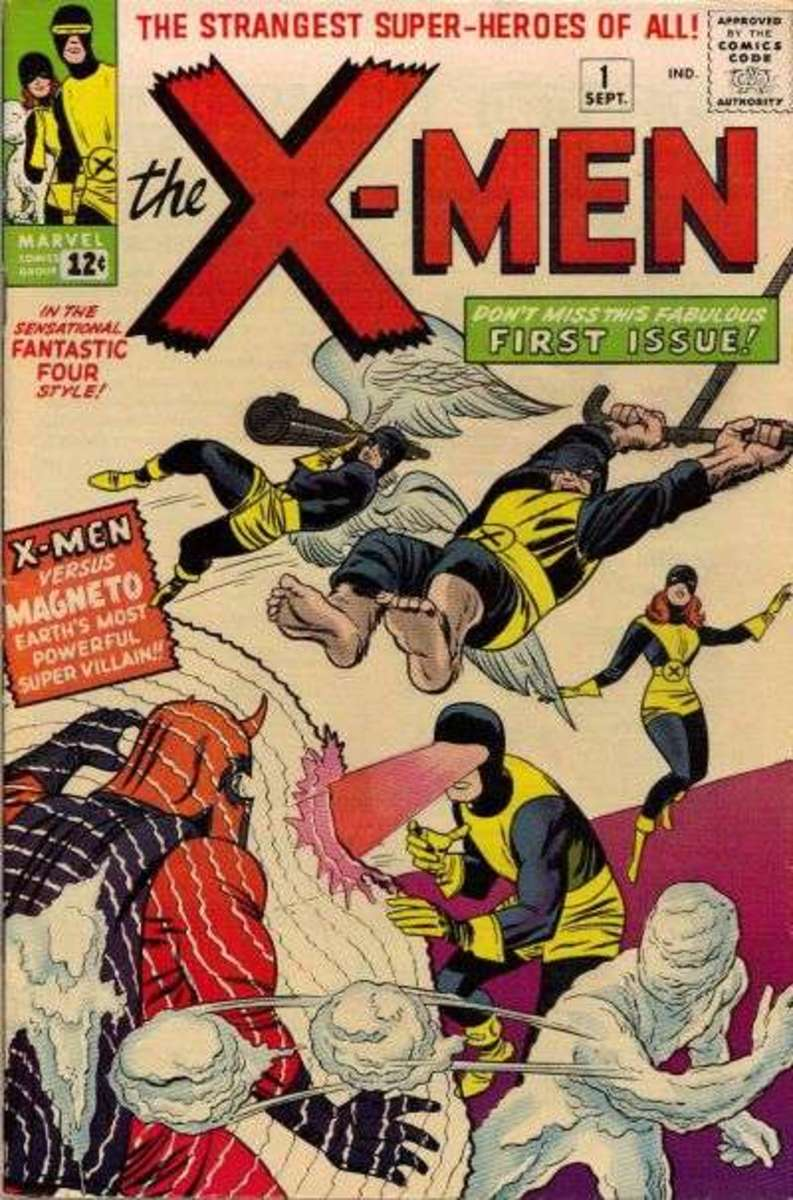 Marve Comics' X-Men #1 - First Appearance of the original X-Men! Cover by Jack Kirby and Sal Brodsky