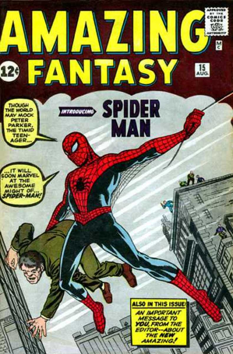 Amazing Fantasy #15 published by Marvel Comics 1962. First appearance of Spider-Man.