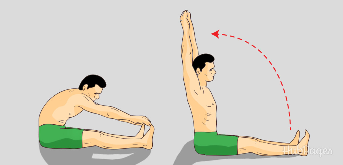 A great stretch to help you grow taller