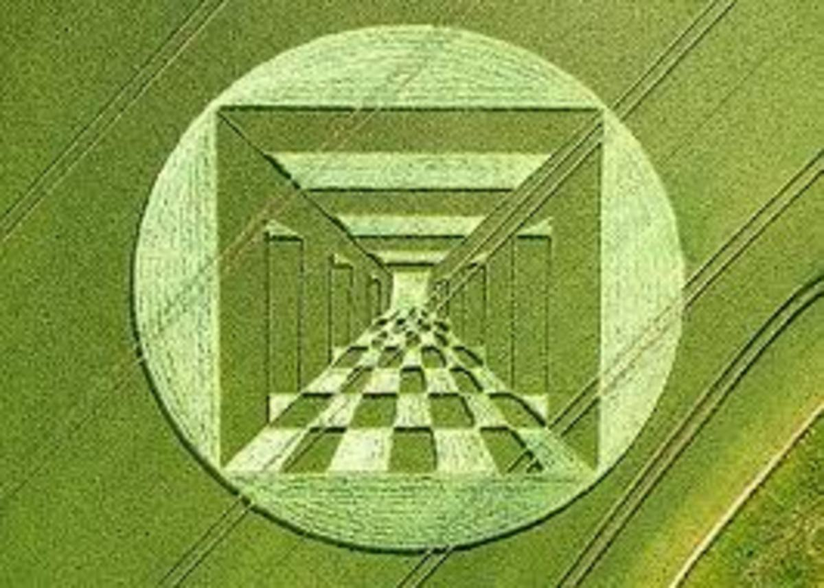 Crop circles like this one continue to fascinate us.